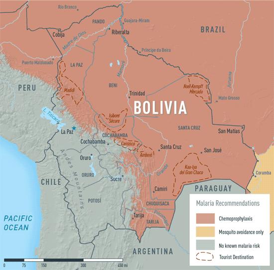 Map 3-18. Malaria in Bolivia