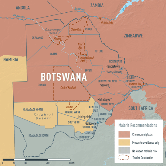 Map 3-19. Malaria in Botswana