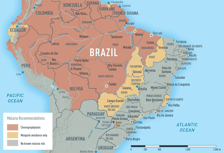 Map 3-21. Malaria in Brazil