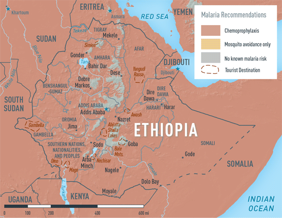Map 3-28. Malaria in Ethiopia