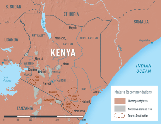 Map 3-31. Malaria in Kenya
