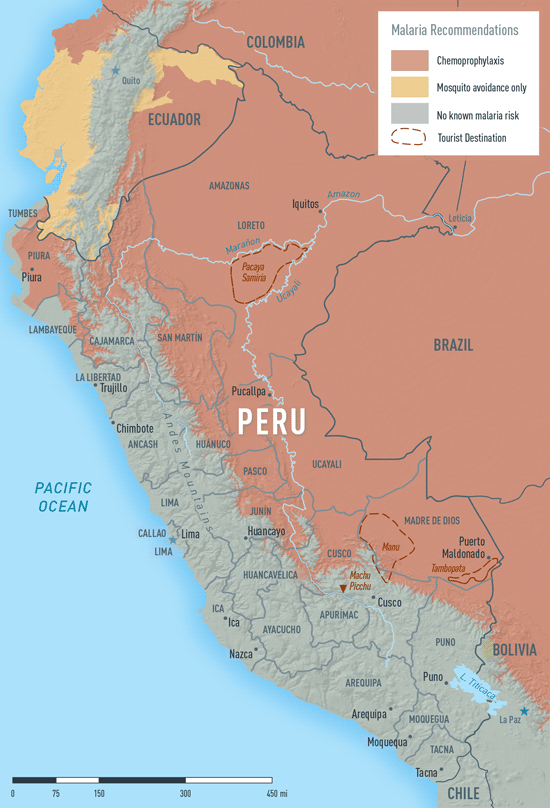 Map 3-37. Malaria in Peru