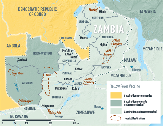 Map 03-41 Zambia yellow fever map