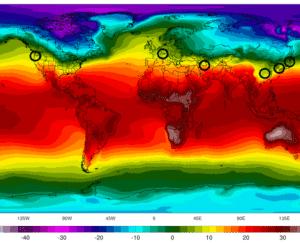 Fasce del globo con condizioni climatiche simili