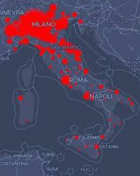 I CASI IN ITALIA DI CORONAVIRUS